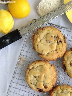 Cookies au citron, gingembre et chocolat