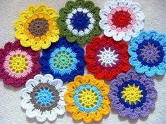 pas a pas en images - Crochet Passion Crochet Motifs, Crochet Quilt, Crochet Squares, Love Crochet, Crochet Granny, Crochet Doilies, Crochet Flowers, Knit Crochet, Sunflowers