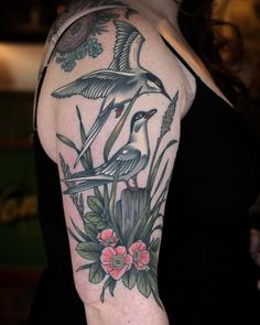 beautiful birds tattoo design on arm Body Tattoos, Beautiful Birds, Professor, Tattoo Designs, Healing, Thankful, Photo And Video, Oregon, Arm