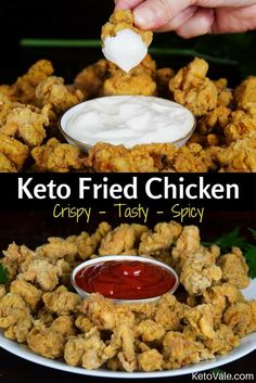 Wow Crispy Keto Fried Chicken KFC™ Style with super low carb! This is my weekly mealplan!