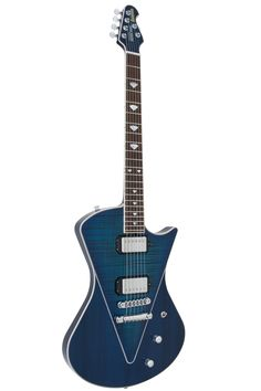 The Music Man Armada HH features a neck through body design, the first Music Man to do so. As a result, the guitar boasts massive sustain and unique feel. The guitar has solid mahogany body with a coo
