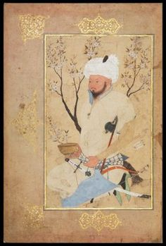 An Amir Seated Beneath a Tree Persian, Safavid, about 1557 Possibly by Shaykh Muhammad, Persian probably Mashhad, Iran DIMENSIONS H x W: 26.5 x 16 cm (10 7/16 x 6 5/16 in.) MEDIUM OR TECHNIQUE Opaque watercolor on paper CLASSIFICATION