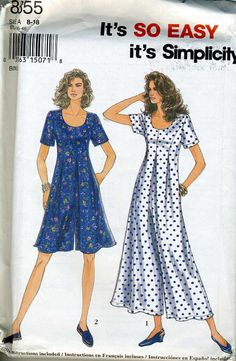 Simplicity 8855 UNCUT Misses by RomasMaison on Etsy