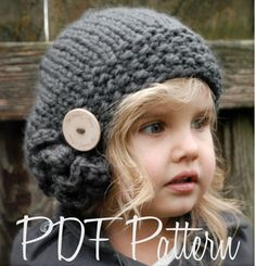 Knitting PATTERN-The Bennett Beret (Toddler, Child, Adult sizes) also can be Made to Order. $5.50, via Etsy.