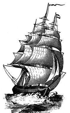 Clipper Ship, 19th Century Photograph
