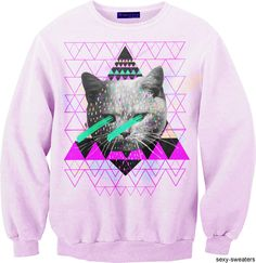 Cat with x-ray vision, crewneck. Again, seems a little OFWGKTA inspired.