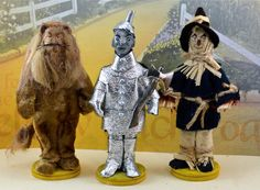 Wizard of Oz Set  Cowardly Lion Tin Man and by UneekDollDesigns