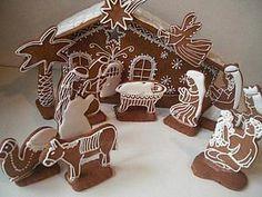 Gingerbread from Tanya Christmas Sugar Cookies, Christmas Baking, Gingerbread Cookies, Christmas Crafts, Christmas Decorations, Christmas Gingerbread House, Christmas Nativity Scene, Gingerbread Houses, Nativity Sets