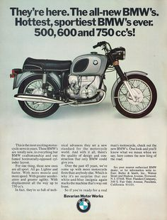 The was advertised as the fastest and sportiest BMW motorcycle ever. Street Motorcycles, Racing Motorcycles, Vintage Motorcycles, Street Scrambler, Bmw Vintage, Vintage Cafe Racer, Bmw Boxer, Bmw Classic Cars, Classic Bikes