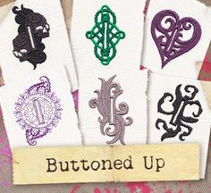 """Embroider these delightful buttonholes on button up jackets, bags, and more! Simply embroider the design and carefully cut down the middle to make fully functioning buttonholes. For 1.5"""" buttons."""