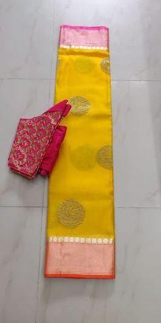 Discover thousands of images about silk kota saree with ready made bouse Kota Silk Saree, Kota Sarees, Bridal Silk Saree, Indian Silk Sarees, Cotton Saree, Bengali Saree, Saree Wedding, Cotton Silk, Wedding Dresses