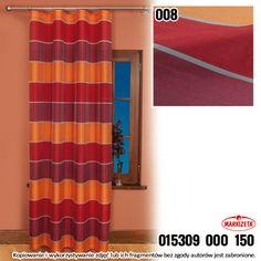 #zasłonki_kuchenne Wyrazista, modna zasłona metrażowa która doda energii każdemu wnętrzu. Szerokie pasy w odcieniach koloru bordowego i czerwonego to modne i nowoczesne połaczenie. Przypadnie do gustu miłośnikom niestandardowych rozwiązań dekoratorskich.  szerokość: 150 cm  kolor: czerwony  Możesz zlecić szycie w naszej profesjonalnej szwalni ceny już od 2,50 zł/mb.  kasandra.com.pl
