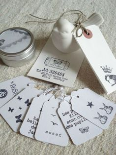 Lovely tags #gift #paper