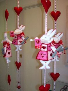 Nursery Mobile  White Rabbit in court  LOVE these...ae