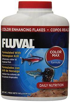 140gm Fluval Color Enhancing Flakes Fish Food, 4.94-Ounce - http://www.petsupplyliquidators.com/140gm-fluval-color-enhancing-flakes-fish-food-4-94-ounce/