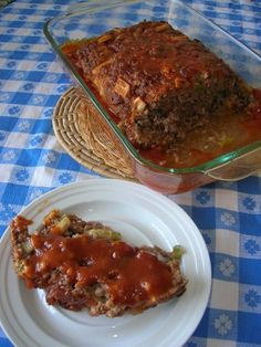 Brown Sugar Meatloaf. I absolutely love this site for good, simple, down home cooking.
