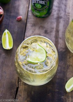 Whiskey Sprite Lime Cocktail