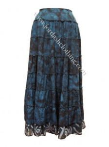 Hippy Skirt~Bohemian Gothic Full Length Tie Dye Cotton Skirt~Fair Trade by Folio JD/SK/1671