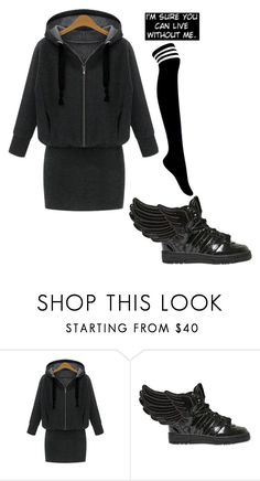 """""""."""" by the-mighty-fail ❤ liked on Polyvore featuring adidas"""