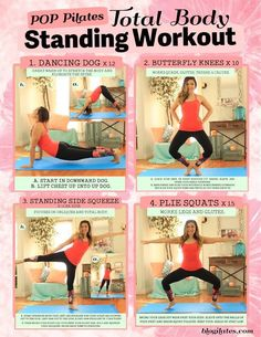 Pop Pilates total body standing work out! pop pilates, pilat total
