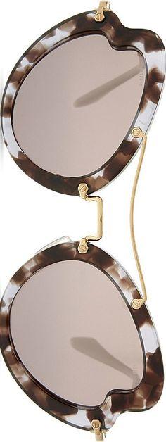 MIU MIU - irregular butterfly-frame sunglasses