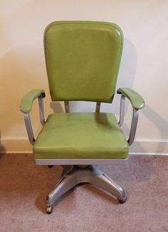 Vtg Mid Century Modern Propeller Tanker Desk Office Chair Steampunk Cole Bankerschair