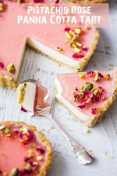#Pistachio Rose Panna Cotta #Tart #Recipes #dessert