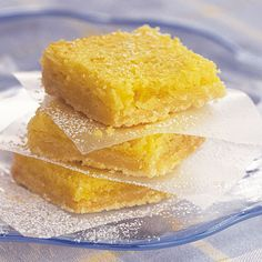Cooking Light magazine's reduced calorie lemon bars. They taste like heaven and nobody ever believes that they're reduced calorie.☺