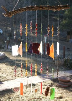 Southwest Cholla Cactus Wind Chime and Sun Catcher by WhoopsyDaisy, $75.00