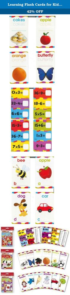 Learning Flash Cards for Kids: Alphabet, Numbers, Pictures and Words Themes. Paper Craft. 3 PACK (26 cards/pack). Paper Craft Dry-Erase Learning Flash Cards : These flash cards featured numbers, letters, pictures and words will bring a fun and interactive learning experience for young toddlers. Each flash card can be erased and they can be reused many times. Great learning gift sets.