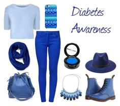 """Outfit of the day- Diabetes Awareness!!!"" by stasimicich ❤ liked on Polyvore featuring mode, Glamorous, Dr. Martens, Forever 21, Boutique Moschino, Old Navy, Louis Vuitton, Uncommon, Chicnova Fashion et Manic Panic"
