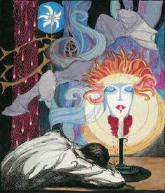 Jeanne Mammen, Man and Medusa 1920's