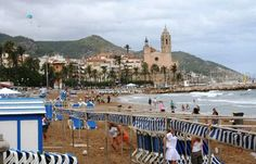 World Famous beaches of Sitges near Barcelona