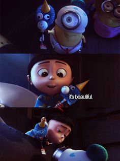 It's beautiful! Agnes in Despicable Me