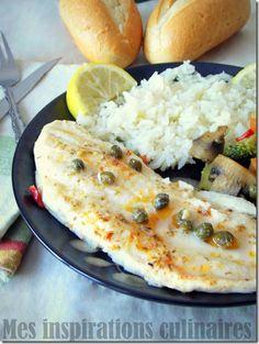filet de poisson au four ou Sole aux légumes sautées