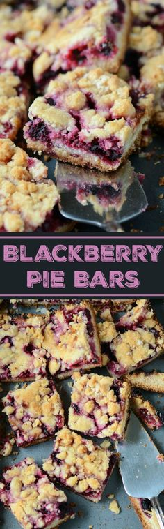Blackberry Pie Bars!