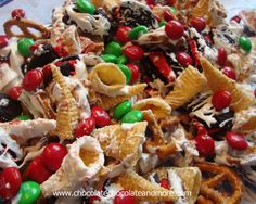 TweetWhite Trash Snack mix-a little sweet, a little salty, a lot of yum! OK, I know what you're all thinking. That's not a very nice thing to say. Well I didn't say it first. I've been making this stuff forever and when we moved to Georgia, hubby took some of this stuff to work and …