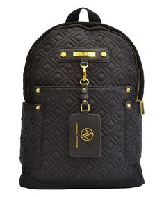 Look what I found on #zulily! Black Travel Quilted Backpack #zulilyfinds