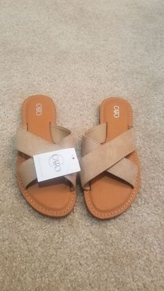 bed9a540df14 Cato Sandals Size 7 Seven Ladies Shoes New NWT Beige  fashion  clothing   shoes