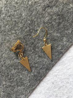 Bijoux d'oreille minimalist boucle/clip or   par BijouxMinimalist