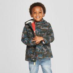 7b8744cc09f Toddler Boys  Camouflage Parka - Cat   Jack™ Blue