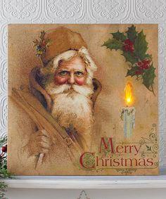 Love this Vintage Santa Lighted Canvas on #zulily! #zulilyfinds