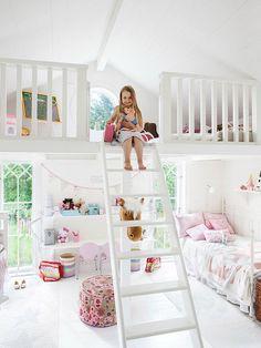 Charming Childrens Room Design  Tässä huone prinsessalle, vain tila puuttuu!