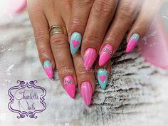 by Karolina Orzechowska, Follow us on Pinterest. Find more inspiration at www.indigo-nails.com #nailart #nails #pink #hot