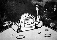 I think this was a TV commercial for Mars Candy, but I could be mistaken.  (ca. 1955, UPA)  director/designer: Gene Deitch