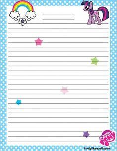 {free} printable My Little Pony Stationery