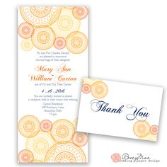 Beautiful orange and Navy palette. Whimsical Wedding Invitations, Bountiful Utah, Circle Pattern, Wedding Paper, Getting Married, Ann, Reception, Marriage, Palette