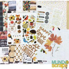 Esta colección Warm&Cozy nos encanta 💕💕 Con estampados en colores muy otoñales, madera y muchos adornos! Feliz fin de semana!!! La tenéis en www.mundoscrap.com