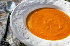 Karina's gluten free sweet potato soup is vegan and dairy-free.