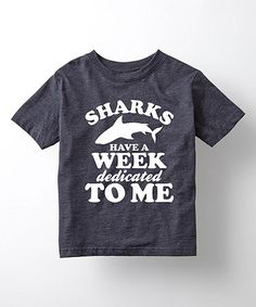 Heather Blue 'Sharks Have A Week' Tee - Toddler & Kids #zulily #zulilyfinds
